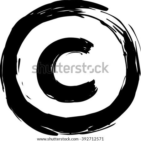 Copyright symbol - stock vector