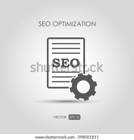 "Copywriting icon ""SEO Optimization"" in linear style. Vector illustration - stock vector"