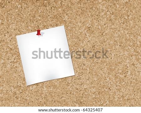 Cork bulletin board - stock vector