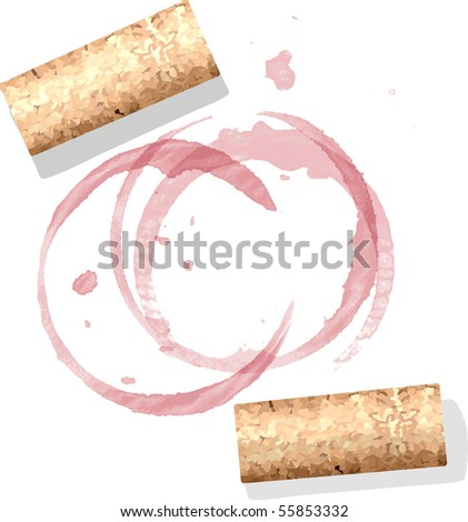 corks and wine stains