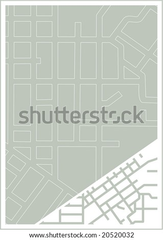 Corner road layout template