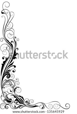 Corner swirl - stock vector