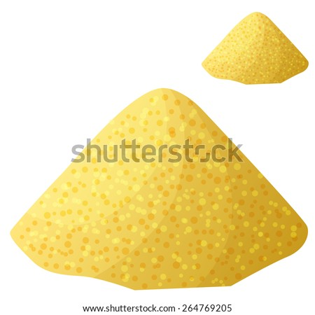 Cornmeal isolated on white background. Detailed Vector Icon. Series of food and drink and ingredients for cooking. - stock vector