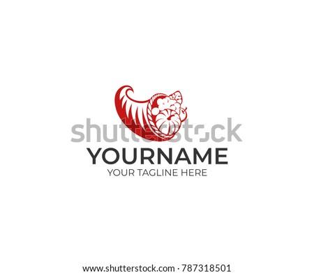 Cornucopia Logo Template Horn Plenty Vector Stock Vector 787318501 ...