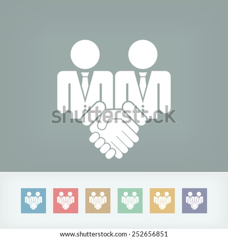 Corporate agreement icon - stock vector
