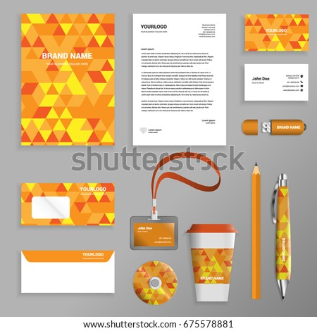 Shades Of Orange Names easy edit vector orange business template stock vector 45967660