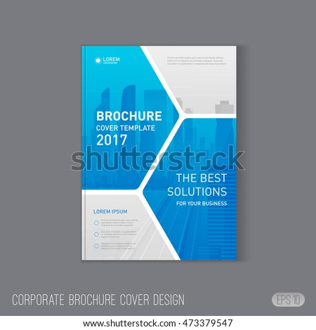 Corporate Brochure Cover Design Template Layout Stock