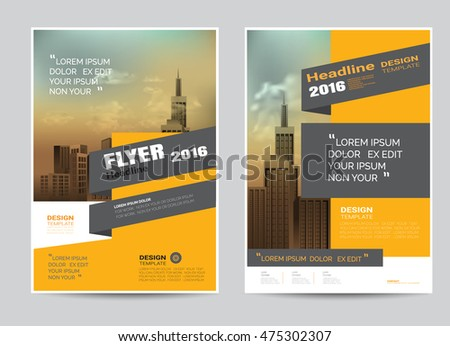 corporate brochure flyer design layout template in a4 size modern stylevector