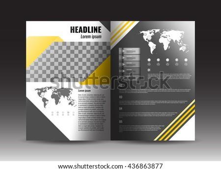 Corporate Brochure Template Design Stock Vector Stock Vector ...