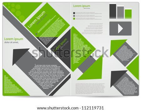 corporate business brochure design - stock vector