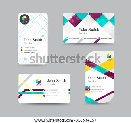 corporate business card personal name card design template vector