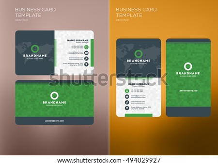 Corporate business card print template personal stock vector hd corporate business card print template personal visiting card with company logo vertical and horizontal accmission Choice Image