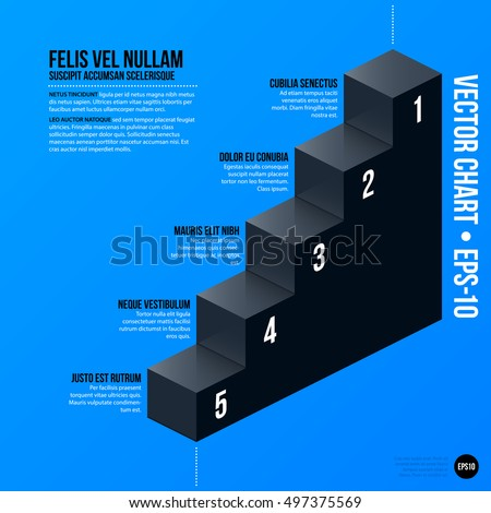 Corporate business chart template on bright blue background. Useful for presentations and advertising.