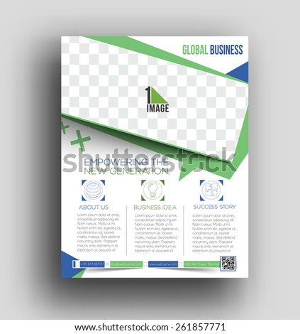 Corporate Business Flyer & Poster Template - stock vector