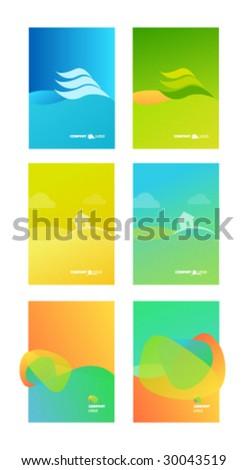 Corporate Business Folder Template Background - stock vector