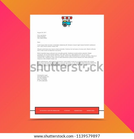 Corporate business letterhead design template stock vector corporate business letterhead design template accmission