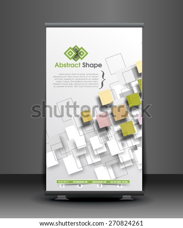 Corporate Business Roll Up Banner Design - stock vector