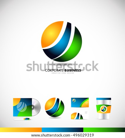 Corporate business sphere logo icon design