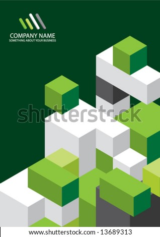 Corporate Business Template Background - stock vector