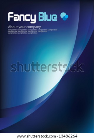 Corporate Business Template Background (Dark Blue) - stock vector