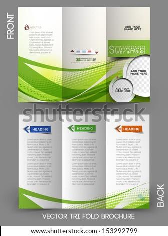 Corporate Business Tri-Fold Mock up & Brochure Design  - stock vector