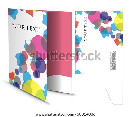 corporate folder with die cut design, best used for your project. - stock vector