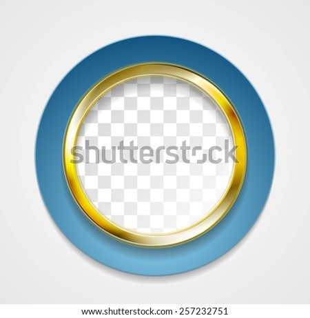 Corporate golden circle for web design. Vector background - stock vector