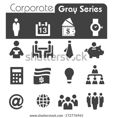 Corporate Icons - stock vector