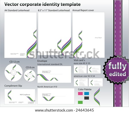 corporate ID design elements - stock vector