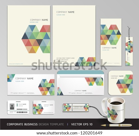 Corporate identity business set design. Abstract background Vector illustration. - stock vector