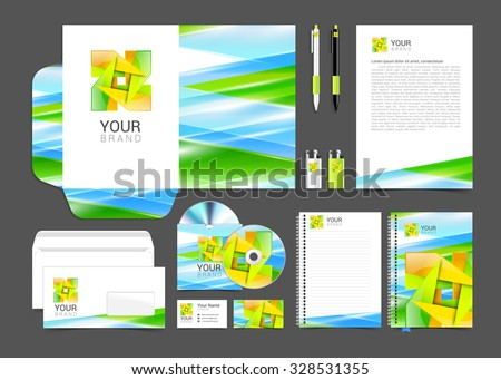 corporate identity creative color template design, business