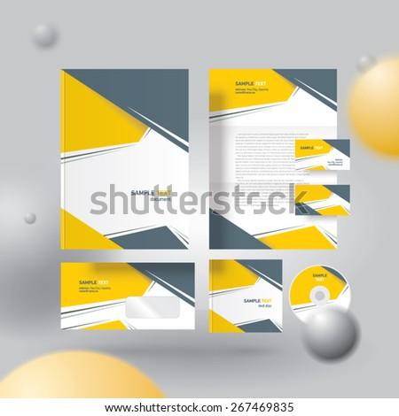 Corporate identity design template - stock vector