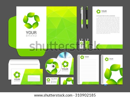 Corporate identity design vector Sign symbol leaves.