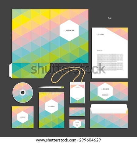 Corporate identity design vector - Stationery set design.