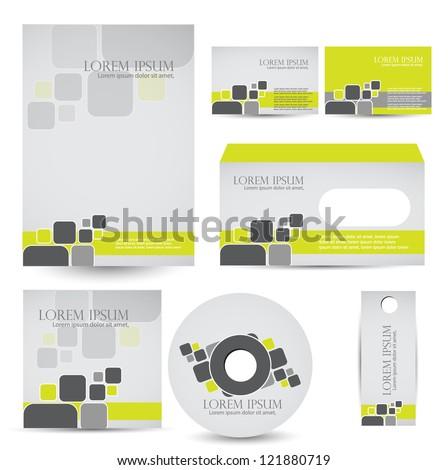 corporate identity kit - stock vector