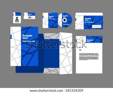 corporate identity set - stock vector