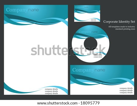 Corporate identity template. - stock vector