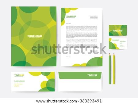 Corporate Identity Template - stock vector