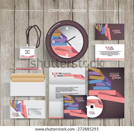 corporate identity template design - stock vector