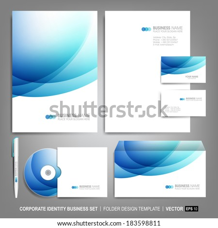 Corporate identity template for business artworks.  Vector Illustration - stock vector
