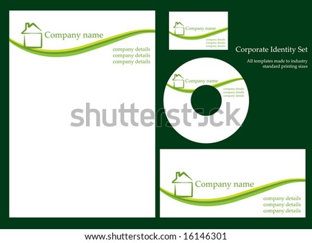 Corporate identity template - Set 1 - stock vector
