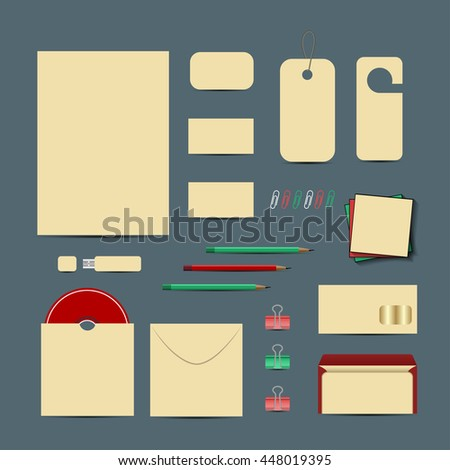 Corporate identity template set. Business stationery mock-up