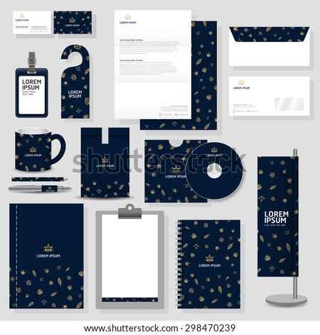 corporate identity template Stationery design set in vector format - stock vector