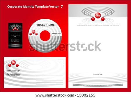 Corporate Identity Template Vector 7 - stock vector