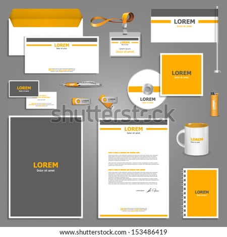 Corporate identity template. Vector company style for brandbook and guideline. EPS 10 - stock vector