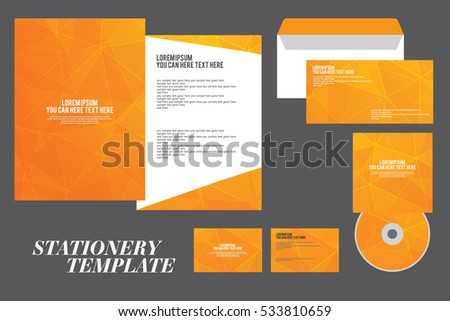 corporate identity template, Vector company style, stationery EPS10
