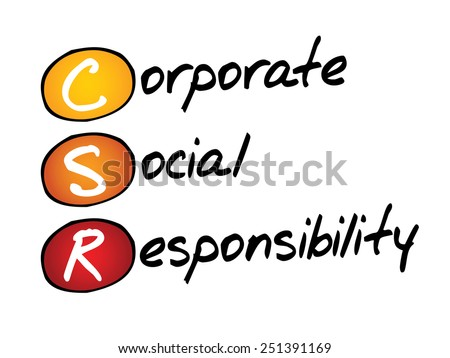 Corporate Social Responsibility (CSR), business concept acronym - stock vector