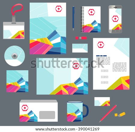 Corporate style business templates. Set of modern abstract graphic design - stock vector