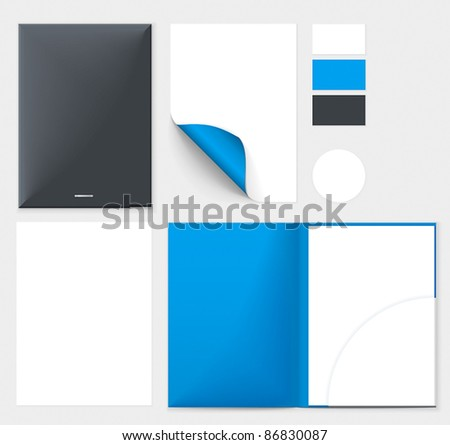 Corporate style template - stock vector