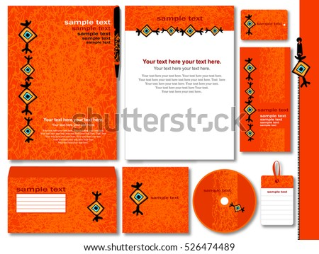 Corporate style with abstract modern print. 9 various templates.